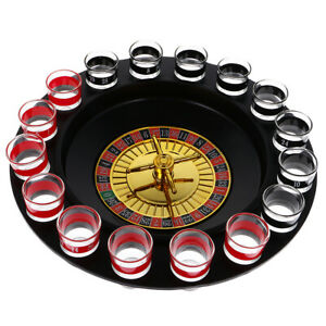 Russia Lucky Shot Roulette Drinking Game Set Spin Wheel Adult Game Turntable