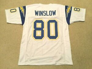 UNSIGNED CUSTOM Sewn Stitched Kellen Winslow White Jersey - M, L, XL, 2XL