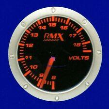 Manometro Voltmetro RaceMax Serie Amber Red RMMN1191