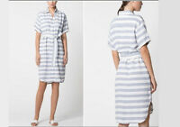 NWT $180 Designer Country Road TRENERY French Linen Collection Shirt Dress