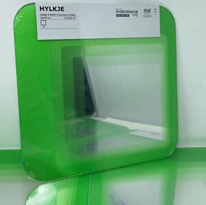 IKEA HYLKJE Modern Graduated Retro Mirror Shatterproof Film Set Of 4 GREEN RARE