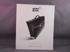 Mont Blanc 1998 Vintage Leather Collection Color Catalog--new old stock