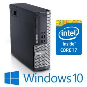 Dell Optiplex 9010 SFF Desktop Computer Quad Core i7 3770 8G 128G SSD Win 10 Pro