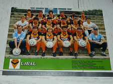 CLIPPING POSTER FOOTBALL 1984-1985 STADE LAVALLOIS LAVAL LE BASSER TANGOS