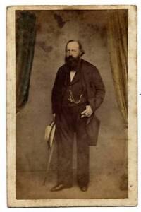 CDV Prince Leopold Borbone Count Siracusa Bourbon Naples 1860 Bernoud S67