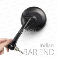 Motorcycle Handle Bar End Mirrors Retro Style Black for Indian Scout Bobber
