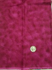 1 Yard Cotton Quilt Fabric Raspberry Quilter's Suede by Benartex