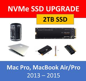 WD Black 2TB NVMe SSD Mac Pro 2013 MacBook Pro / Air 2013 2014 2015 Upgrade Kit