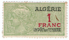 (I.B) France Colonial Revenue : Algeria Duty 1Fr