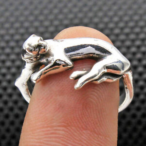 Leopard Ring Solid 925 sterling Silver Jewelry Handmade Ring Size US 6.5