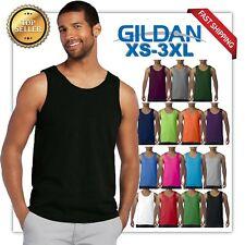 f8902054c432f Gildan Tank Top Ultra Cotton Mens Workout Fitness gym Shirt Solid Color 5200