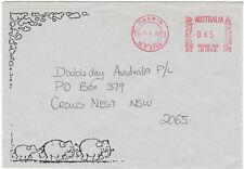 1992 Elephants Darwin Nt postmark commercial cover metered