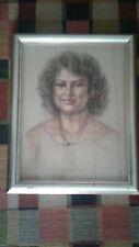 Great pastel portrait.Artis Lane.Important African American artist
