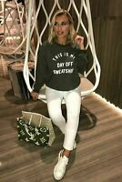 "New Ladies Womens ""This Is My Day Off"" Slogan OverSize Sweatshirt Jumper Sweater"