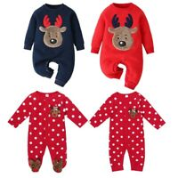Baby Girls Boys Romper Christmas Jumpsuit Newborn Playsuit Xmas Party Clothes