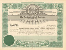 The Caledonian Coal Company > Columbus Ohio old stock certificate share