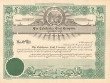 The Caledonian Coal Company Columbus Ohio old stock certificate share