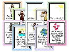 10 Bible Verse Classroom Laminated Posters and Anchor Charts. 8.5 x 11 inches.