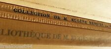 Bibliothèque Eugène Renevey + collection tableaux estampes du XVIIIè siècle 1924