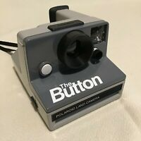 POLAROID THE BUTTON SX70 LAND CAMERA-FILM TESTED