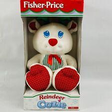 Fisher Price Reindeer Cozie Plush Christmas Stuffed Animal Baby Toy Thermal 1998