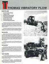 THOMAS VIBRATORY PLOW for  SKID STEER LOADER BROCHURE