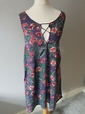 Roxy Floral Summer Strappy Dress New With Labels Size L