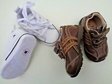 Lot of 2 Converse Crib shoes Faded Glory Boots Sneakers SZ 2 (3-6 mos) walking