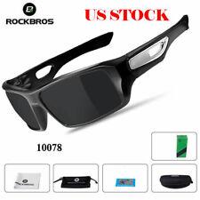 ROCKBROS Cycling Glasses Eyewear Sports Polarized Sunglasses Black Goggles US