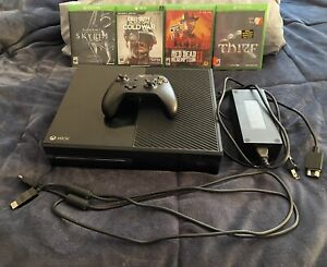 Microsoft Xbox One X 500GB Black Bundle w/ (4) Games, Controller & All Cables