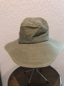 ORVIS Green SMALL  Outdoor Camping Fishing Hiking Bucket Boonie Hat PAPER TAG