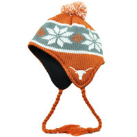 NCAA Texas Longhorns Top of The World Peruvian Knit Tassel Pom Pom Hat Orange