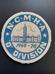 N.C.M.H.A  Division D 1969-70 Hockey Vintage Original Cloth Patch