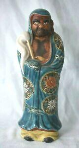 Antique Japanese Kutani Imari Scholar Immortal Man Blue Enamel Chinese Figure