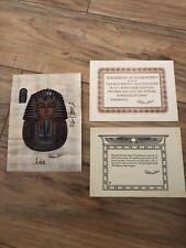 100% Hand Made Egyptian Papyrus Hand Paint Tutankhamun Certificate Authenticity