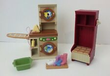 Fisher Price Loving Family Dollhouse Laundry Room Washer Dryer Storage