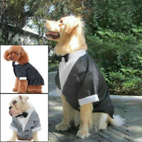 Pet Puppy Dog Clothes Costume Tuxedo Wedding Suit for Large Medium  Small