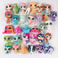 1 - 20pcs Random Hasbro Littlest pet shop LPS Mini Figure Cute Animal Kids Toys