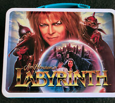 80s VINTAGE  Labyrinth Lunch Box David Bowie Jim Henson Movie