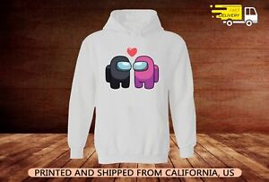 Among Us Imposter Love unisex hoodie full size S-5XL