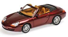 Porsche 911 Cabriolet 996 Red Metallic 1998 Minichamps 1:43 400061092 NEW NUEVO