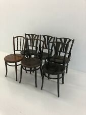 Bentwood Spindle Back Dining Chairs Set Of 6 Lot Vintage Thonet Style