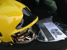 MSA GALLET FIRE HELMET NEW YELLOW -BNIB GOLD FACE SHIELD
