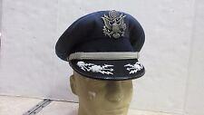 VIETNAM ERA USAF OFFICERS DRESS HAT W/ CAP BADGE SIZE 7 US AIR FORCE FLIGHT ACE