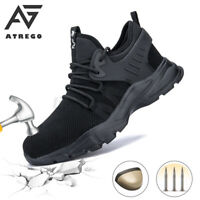 AtreGo Men's Safety Steel Toe Cap Shoes Mesh Hiking Sneakers Sports Work  !