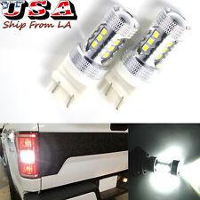 3175 4157 6000K White 80W Projector Lens LED Parking Backup Reverse Light Bulbs