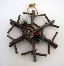 Weihnachtlicher Fensterhänger Schneeflocke mit Glitzer Durchmesser ca. 25 cm