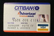 CitiBank American Airlines Visa credit card expired 1990♡Free Shipping♡cc564