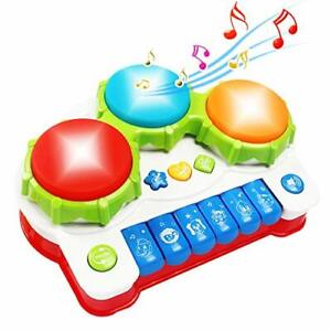 Tomons Baby Musical Toys, Music Drum Piano Toys for 6 to 12 Months Infant Kids