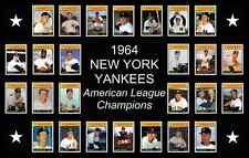 NEW YORK YANKEES 1964 World Series Baseball Card POSTER Decor Birthday Gift NY